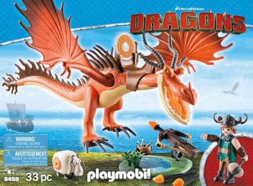 PLAYMOBIL 9459 Dragons Rotzbakke und Hakenzahn