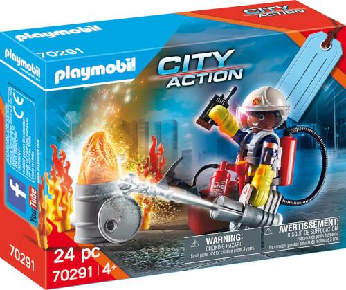PLAYMOBIL 70291 Geschenkset ''Feuerwehr''