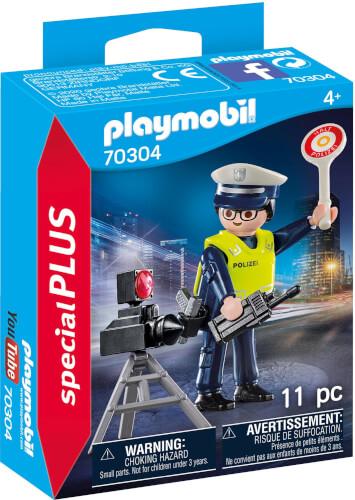 PLAYMOBIL 70304 Polizist mit Radarfalle