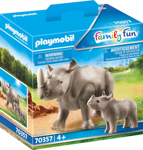 PLAYMOBIL 70357 Nashorn mit Baby