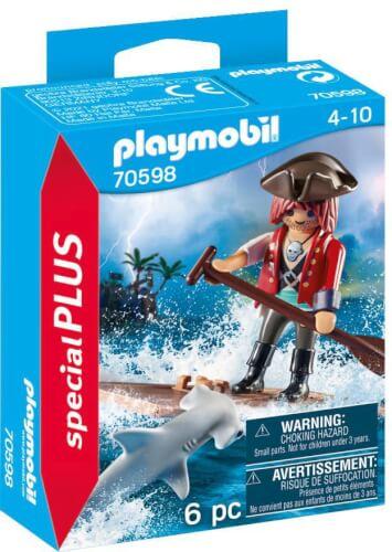 Playmobil 70598 Pirat mit Floß und Hammerhai