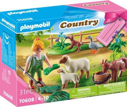 Playmobil 70608 Geschenkset ''Bäuerin mit Weidetieren''