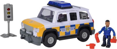 Simba Feuerwehrmann Sam Polizeiauto 4x4 mit Figur