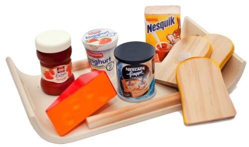 Modernes Frühstückstablett mit Zubehör