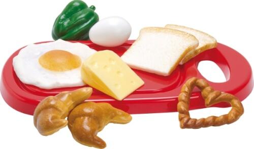 Dantoy 4252 Küchenspielzeug  Frückstücksset, im Netz, 10-teilig, ab 3 Jahren