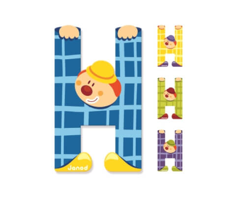 Buchstaben Clown H