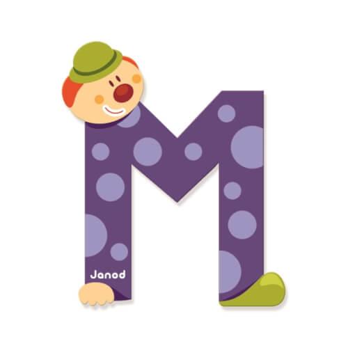 Buchstaben Clown M