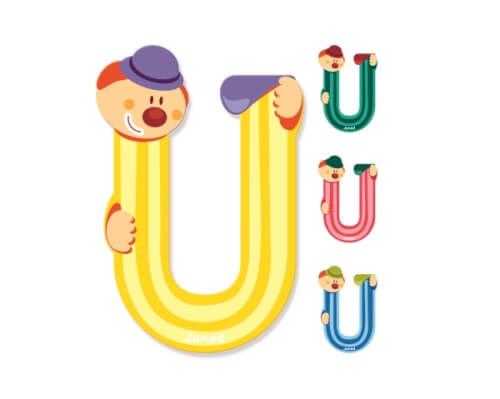 Buchstaben Clown U