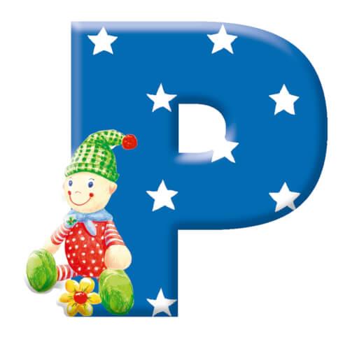 Deko-Buchstabe P BabyGlück