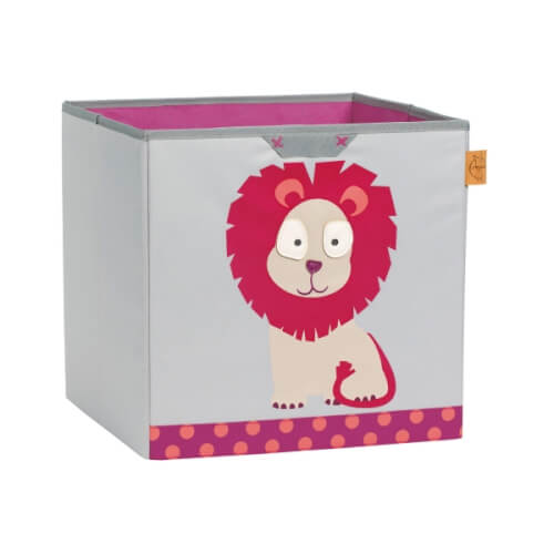 Lässig Lässig 4Kids Toy Cube Storage Wildlife  Lion