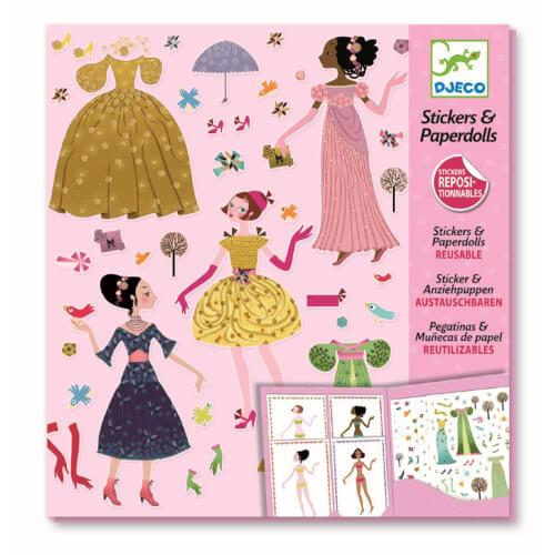 Stickerpuppen: Papier Puppen - Durch die Jahreszeiten