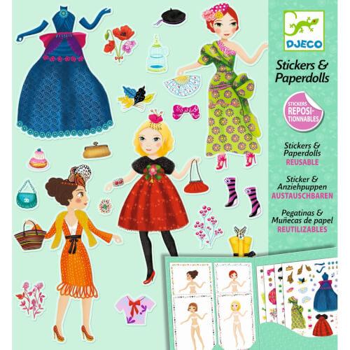 Stickerpuppen: Papier Puppen - Massive fashion