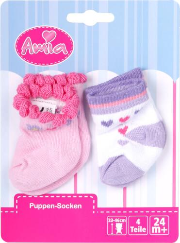 Amia Puppen-Söckchen bis Größe 46 cm