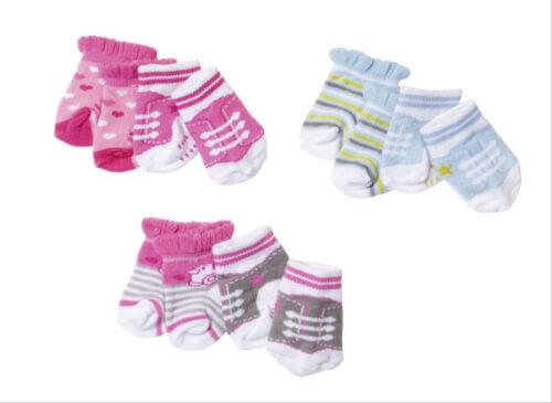 Zapf BABY born® Socken (2 Paar) sortiert, ab 3 Jahren, mehrfarbig