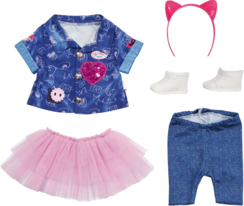 Zapf BABY born Deluxe Jeans Kleid Set 43 cm