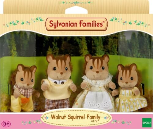EPOCH Sylvanian Families 4172 Walnuss Eichhörnchen Familie Knacks