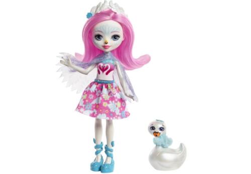 Mattel FRH38 Enchantimals Schwanenmädchen Saffi Puppe