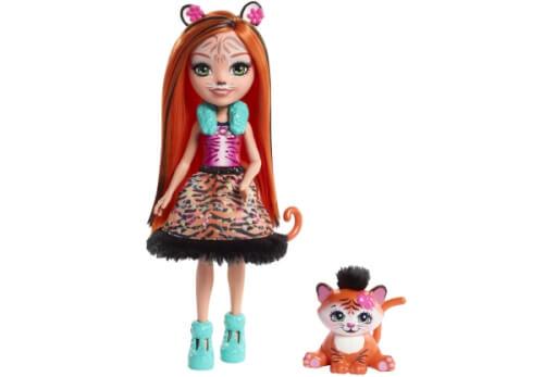 Mattel FRH39 Enchantimals Tigermädchen Tanzie Puppe