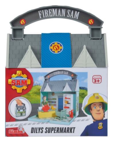 Simba Feuerwehrmann Sam - Dily's Supermarkt inkl. 2 Figuren, Kunststoff, ca. 19x8x16 cm, ab 3 Jahre