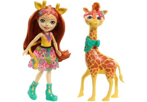 Mattel FKY74 Enchantimals Themenpack Gillian Giraffe