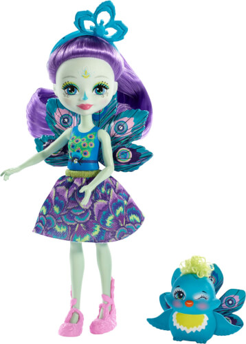 Mattel FXM74 Enchantimals Patter Peacock & Flap