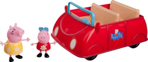 PEPPA großes rotes Auto mit 2 Figuren