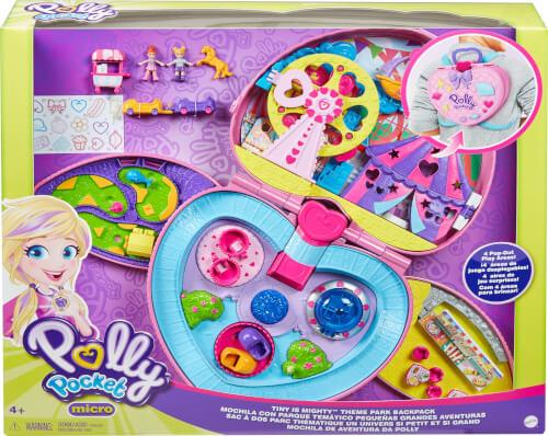 Mattel GKL60 Polly Pocket ?Klein - ganz groß Freizeitpark Rucksack