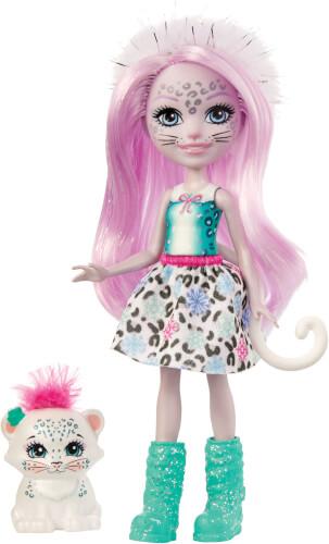 Mattel GJX42 Enchtanimals Sybill Snow Leopard & Flake