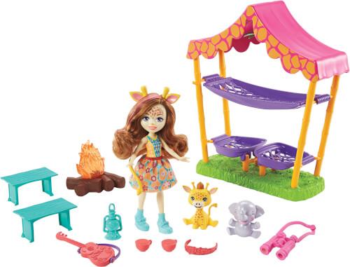 Mattel GTM33 Enchantimals Savanna Sleepover Griselda Giraffe Spielset