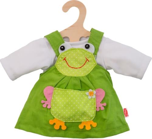 Puppen-Froschkleid, 2-teilig, klein, Gr. 28-35 cm