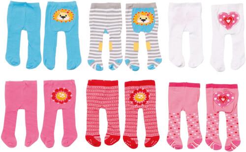 Zapf BABY born® Kleider Kollektion Dolly Moda Strumpfhosen, 2er Pack, Gr. 38-46, ab 3 Jahren