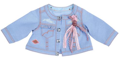 SCHILDKRÖT Kids - Jacke Jeans mit Eulenanstecker