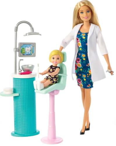 Mattel FXP16 Barbie Dentist Puppe und Spielset