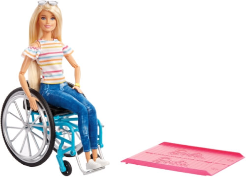 Mattel GGL22 Barbie Wheelchair Accessory + Puppe (blond)
