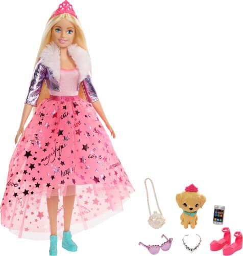 Mattel GML76 Barbie #Prinzessinnen Abenteuer'' Barbie Prinzessinnen-Puppe