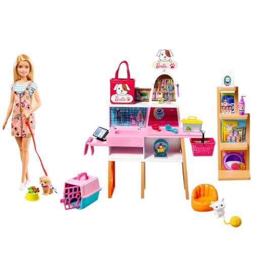 Mattel GRG90 Barbie Haustier-Salon Spielset mit Puppe