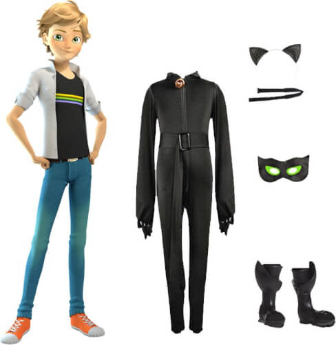 Miraculous Puppe Adrien m. 2 Outfits