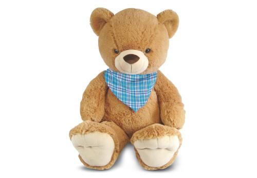 Teddy mit Halstuch, aus Plüsch, ca. 100 cm, ab 3 Jahren