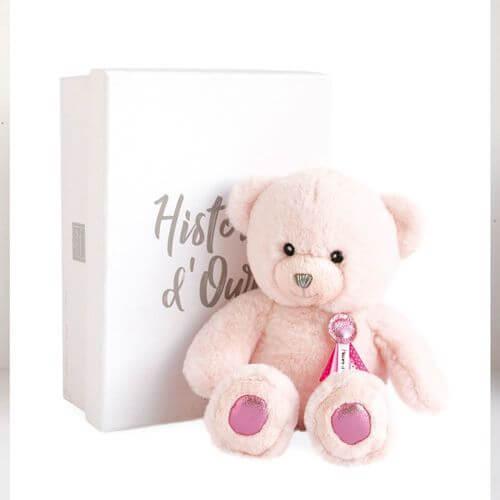 Doudou - Glücksbringer Bär,dunkelrosa 24cm