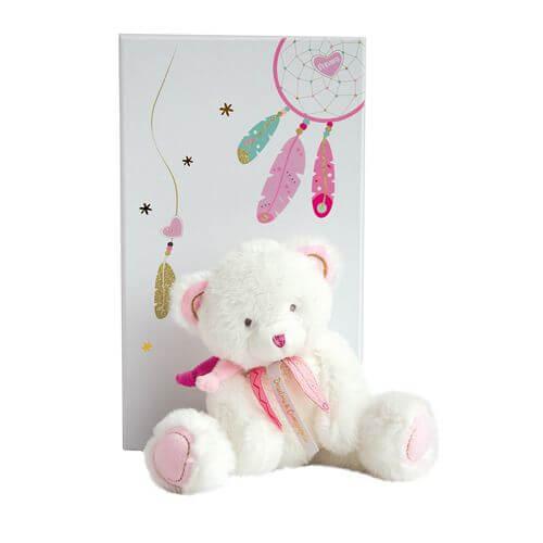 Doudou - Traumfänger Bär,rosa 22cm