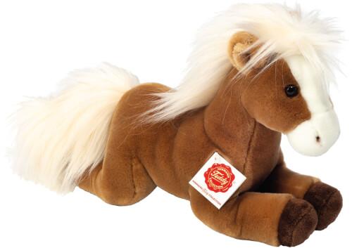 Teddy Hermann Pferd liegend hellbraun 30 cm
