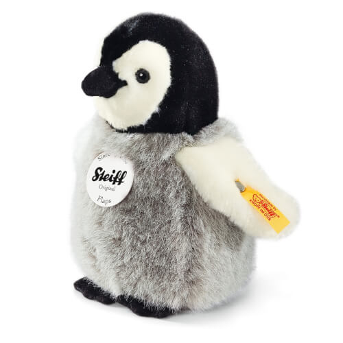 Steiff Flaps Pinguin, grau/weiß, stehend, 16 cm