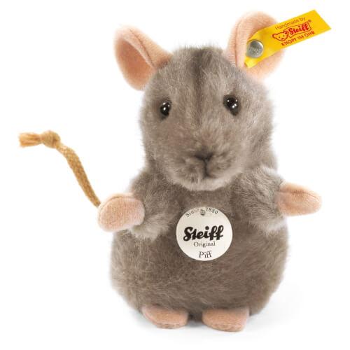 Steiff Piff Maus, grau, 10 cm
