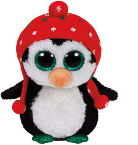 Ty Freeze-Pinguin mit Mütze rot, ca. 15 cm