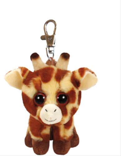 TY Key Clip Giraffe Peaches (Beanie Boo's), Plüsch, ca. 5x6x9 cm