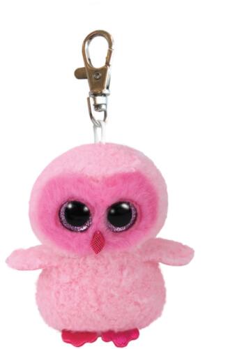 TY Key Clip Eule Twiggy (Beanie Boo's), Plüsch, ca. 5x6x9 cm