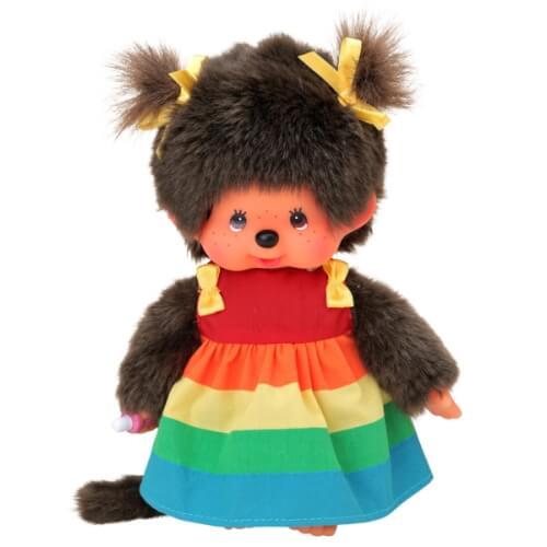 Monchhichi Regenbogen-Mädchen, ca. 20 cm
