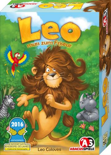 Abacusspiele Leo muss zum Friseur - Deutscher Spielepreis, Bestes Kinderspiel 2016, Merkspiel, Spieldauer ca. 30 Min, ab 6 Jahre