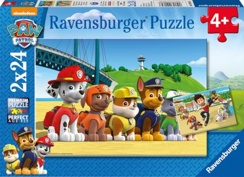 Ravensburger 09064 Puzzle Paw Patrol Heldenhafte Hunde 2 x 24  Teile