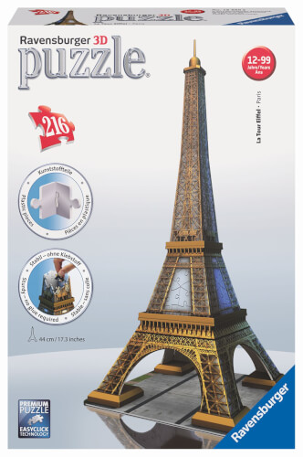 Ravensburger 12556 Puzzle 3D Eiffelturm 216 Teile